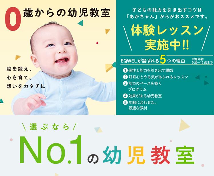選ぶならNo.1の幼児教室 EQWELチャイルドアカデミー